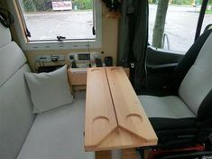 Table CS Duo Super motorhome table for everyone who needs a little more space . - Table CS Duo Super motorhome table for everyone who needs a little more space! Table Camping, Van Camping, Camping Hacks, Camping Life, Outdoor Camping, Camping Car Sprinter, Sprinter Camper, Interior Motorhome, Van Interior