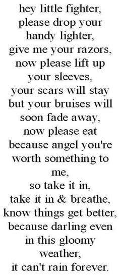 Do not self harm people love you