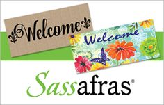 Sassafras Switchmats are an inexpensive way to dress up any entryway!  With a surround that comes in 3 designs and a wide variety of decorative inserts, you can change the look of your entryway to suit the season or your personality – the ideal welcome to your home! Welcome, Personality, Entryway, Suit, Change, Seasons, Dress, Design, Decor