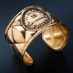 Chanel Bangle In Gold Tone