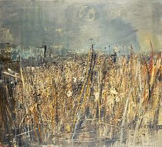 Seeded Grasses and Daisies, September, 1960 by Joan Eardley. © Estate of Joan Eardley. All Rights Reserved, DACS Image: © National Galleries of Scotland. Abstract Landscape Painting, Landscape Art, Landscape Paintings, Aberdeen Art Gallery, Gallery Of Modern Art, Glasgow School Of Art, Art Textile, Art Uk, Texture Art