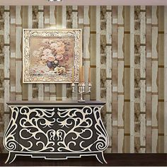 Mediterranean Wallpaper Mediterranean Wood Stripes PVC 3D Embossed Vinyl Bedroom Mural Wall Paper Home Decor
