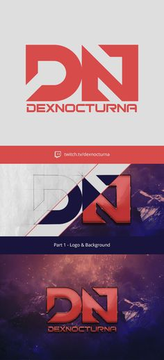 This is part 1 of a soon to be streamer on Twitch.TV. Part 2 will include a overlay, icons and soc. media covers. Behance: https://www.behance.net/gallery/22949347/DexNocturna-Twitch-Identity-Part-1