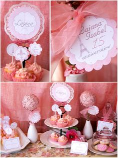 "Bird's Party Blog: Real Parties: ""A Pink, Vintage Paris"" Sweet 15th Birthday!!"