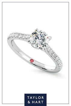 Get inspired by this wonderfully classic diamond pave engagement ring.The Aurora combines a round diamond centre with a four claw setting set in 18ct white gold. Let's create something magical together! #engagement #engagementring #pave #diamond #whitegold