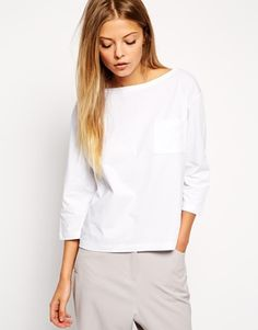 Enlarge ASOS Top with Long Sleeves and Pocket