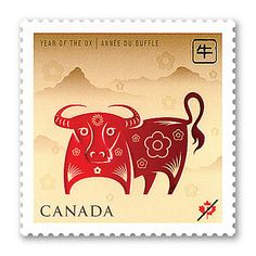 "Canada Stamp 2009 -   ""Year of the Ox"""