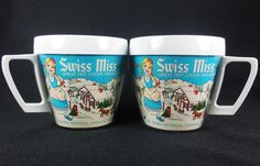Swiss Miss Insulated Mug Thermo Serv White by RedThreadRetro