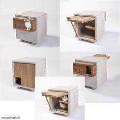 Casas para gatos diseños de arquitectos. Pet Furniture, Modern Furniture, Furniture Design, Diy Inspiration, Multifunctional Furniture, Cat Shelves, Cat Condo, Cat Room, Diy Stuffed Animals