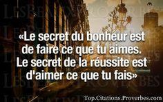 Le secret...