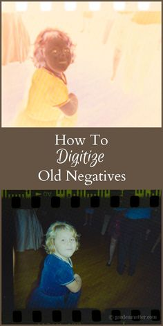 Learn how to digitize old negatives for next to nothing by using items you probably have on hand and editing them with your computer. Digital Organization
