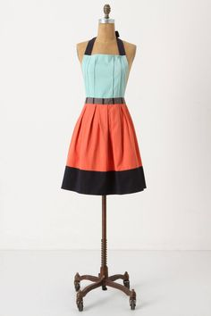 Cuisine Couture Apron in Turquoise | Anthropologie - $32