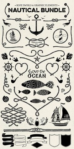 Nautical Vector Pack by SoNiceDesign on Etsy