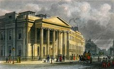 The New College of Physicians, Pall Mall, East, engraved by Thomas Barber (1768-1843) (colour engraving) Wall Art & Canvas Prints by Thomas Hosmer Shepherd