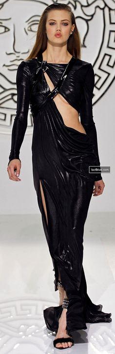Versace Fall Winter 2013-14 RTW Collection | Black Couture Dress