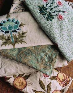 Flower embellished fabric scraps :) #FlowerShop