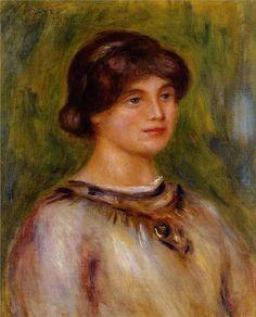 Pierre-Auguste Renoir (1841-1919) Portrait De Marie Lestringues 1912