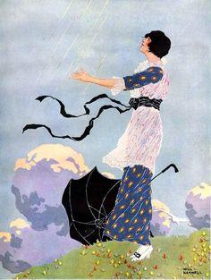 Flowers Vintage Illustration Vogue Covers 62 Ideas For 2019 Vintage Illustration Art, Magazine Illustration, Art Nouveau, Vintage Posters, Vintage Art, Vintage Style, Journal Vintage, Vogue Covers, Magazine Art