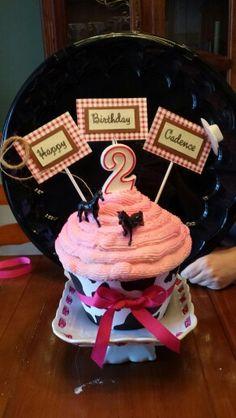 Large cowgirl cupcake