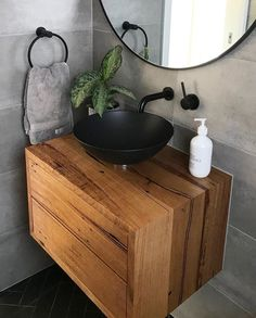 Recycled Messmate Floating Vanity. Timber Revival, Melbourne. Made in Melbourne, shipped nationally around Australia. #timbervanity #recycledtimber #messmate