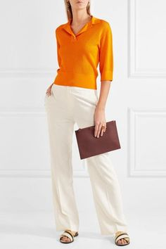 Lanvin - Stretch-crepe Wide-leg Pants - Ivory - FR