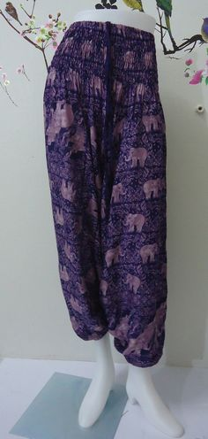 Hey, I found this really awesome Etsy listing at https://www.etsy.com/listing/190482574/purple-elephants-trouser-harem-ali-baba