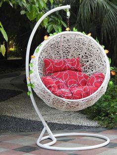 Steel Rattan Hanging Chair,Half Ball Shape Size: 105*105*