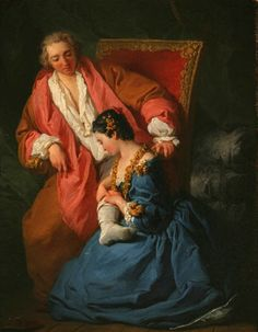 Pierre-Hubert SUBLEYRAS 1699 - 1749  La Courtisane amoureuse  1735
