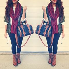 combat boots outfit fall ♡