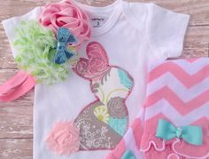 Baby Girl Easter Outfit Newborn and First by sherbetwithsprinkles