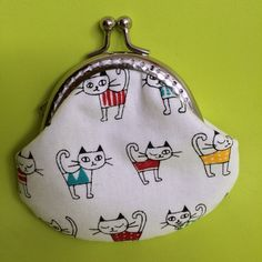 Small Handmade Coin Purse - Little kitten in 4 colour on Etsy, $159.24 HKD