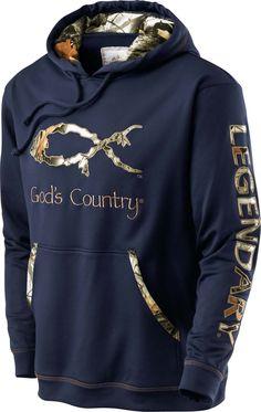 Men's God's Country Camo Poly Hoodie  deergear.com #LegendaryWhitetails