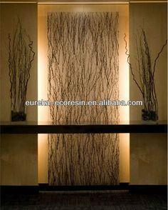 Eureka Modern design Interior fireproof acrylic translucent feature wall decoration panel