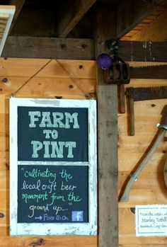 Farm to Pint Chalkboard Sign