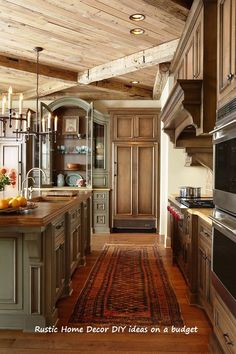 Beauty: Top 20 Most Beautiful Wooden Kitchen Designs To Pi. - Beauty: Top 20 Most Beautiful Wooden Kitchen Designs To Pi… Country Kitchen Designs, French Country Kitchens, Rustic Kitchen Design, Farmhouse Style Kitchen, Modern Farmhouse Kitchens, French Country Decorating, Interior Design Kitchen, Cool Kitchens, Farmhouse Sinks