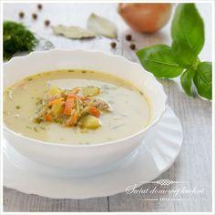 Zupa ogórkowa na żeberkach