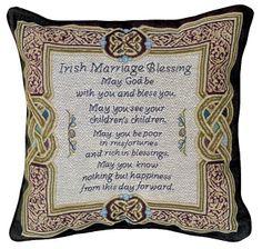 Celtic Wedding Theme | Irish Marriage Blessing Pillow - Shop Irish