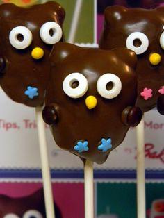 owl cake pops loveee BAKERELLA