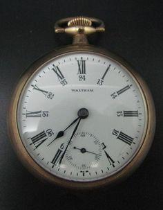 Antique 1899 WALTHAM Pocket Watch 15 Jewels Open Face Full Plate Grade 820 Sz 18