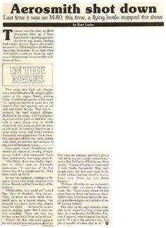 Aerosmith / Aerosmith Shot Down   Magazine Article (1978)