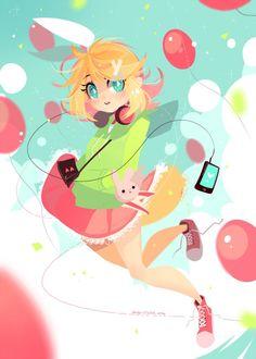 "ir-dr: ""Day 1940 - 14 May 2016 Commission for ScootaTails! Anime Chibi, Kawaii Anime, Anime Art, Pretty Art, Cute Art, Dibujos Cute, Character Design Inspiration, Hatsune Miku, Cartoon Art"