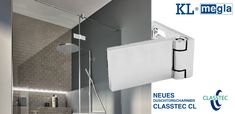We are pleased to introduce the new shower door hinge from KL Megla. The flush-fitting hinge impresses with its elegant design and its angular design. The small gap allows maximum tightness at a low price. Moreover, it is Made in Germany! Door Hinges, Shower Doors, Flat Design, Gap, Germany, Elegant, How To Make, Classy, Deutsch