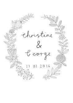 Wedding Invite design by Ryn Frank www.rynfrank.co.uk