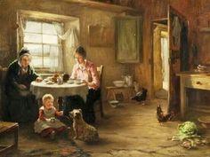 'Tea Time' by Tom McEwan,1846-1914