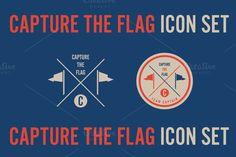 Capture the Flag Icon Set - Illustrations - 1