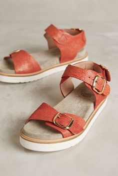 Coqueterra Mint Sandals Red #anthroregistry