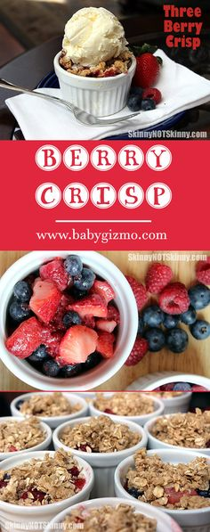 It's Berry Season!! How to make this delicious Berry Crisp! #strawberry #blueberry