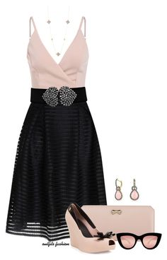 Black & Pink by outfitsfashion4 on Polyvore featuring moda, Glamorous, Melissa, Zodaca, Bling Jewelry, Freida Rothman and Quay