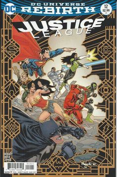 DC Justice League Universe Rebirth comic issue 12 Limited variant