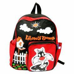 กระเป๋าเป้ LOONEY TUNES - SYLVESTER สีดำ/แดง